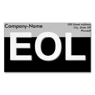 EOL End Of Life Business Card Magnet