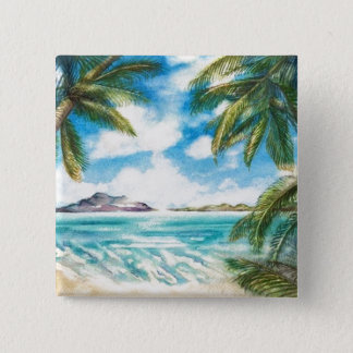 """Eon Isle: Morning Shore"" Button/ Pin"