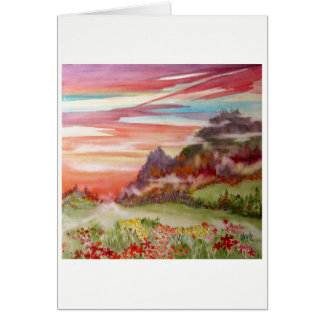"""Eon Isle: Sunset Mountain"" Greeting Card 5"" x 7"""