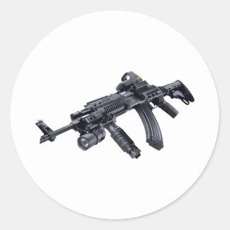 EOTech Sighted Tactical AK-47 Assault Rifle Sticke Round Sticker