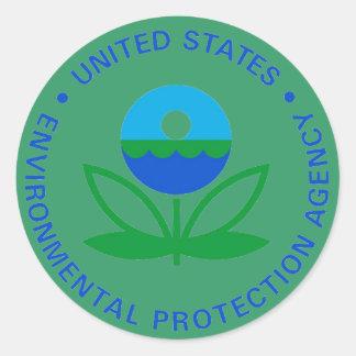EPA ENVIRONMENTAL PROTECTION AGENCY ROUND STICKER