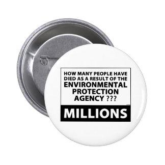 EPA Kills Millions 2 Inch Round Button