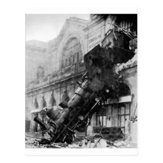 Épave de train chez Montparnasse, catastrophe de c Carte Postale