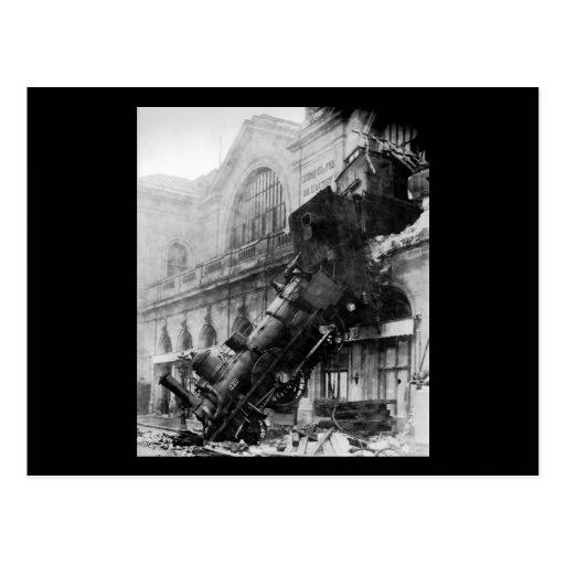 Épave de train chez Montparnasse, catastrophe de c Cartes Postales