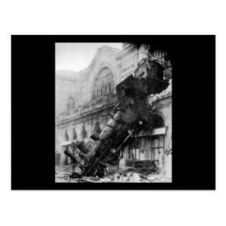 Épave de train chez Montparnasse, catastrophe de Carte Postale