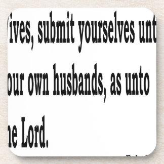Eph. 5:22 coaster