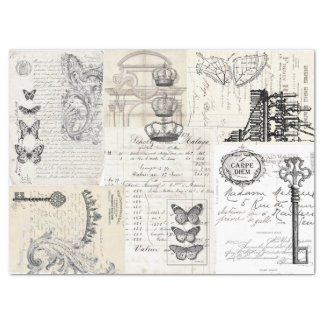 Ephemera Collage Decoupage Sheet Tissue Paper