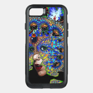 EPHEMERAL/ WOMAN WITH COLORFUL FRACTAL MASK Blue OtterBox Commuter iPhone 7 Case