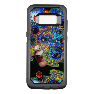 EPHEMERAL/ WOMAN WITH COLORFUL FRACTAL MASK Blue OtterBox Commuter Samsung Galaxy S8 Case