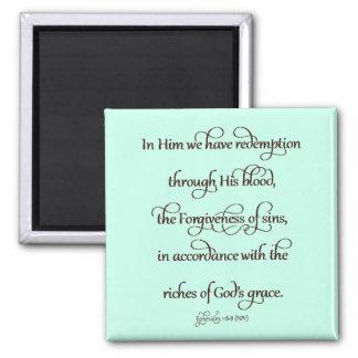 Ephesians 1:6-8 magnet