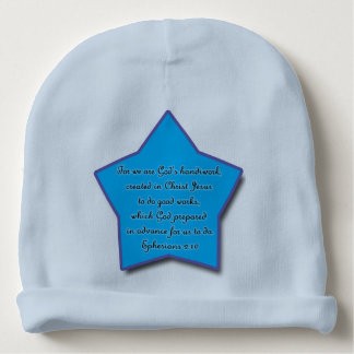 Ephesians 2:10, Bible Verse Blue Star Baby Beanie