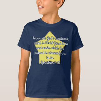 Ephesians 2:10, Bible Verse Blue Star T-Shirt