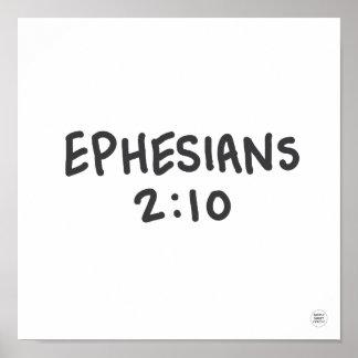 Ephesians 2:10 poster