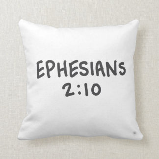 Ephesians 2:10 throw pillow