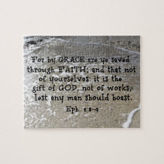 Ephesians 2:8-9 For by grace are ye saved through Jigsaw Puzzle