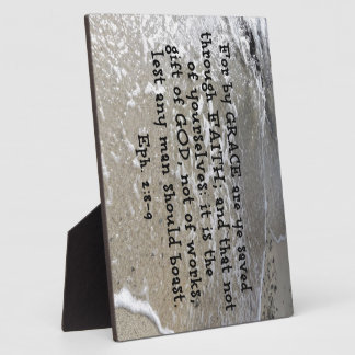 Ephesians 2:8-9 For by grace are ye saved through Plaque