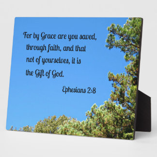 Ephesians 2:8 For by grace are ye saved... Plaque