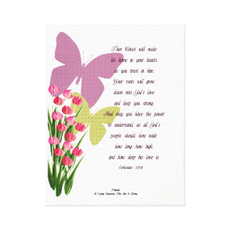 Ephesians 3:17-18 canvas print