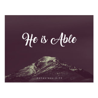 Ephesians 3:20 - He is Able Postcard