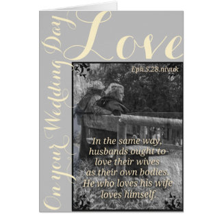 Ephesians 5:28 wedding card