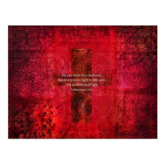 Ephesians 5:8 Uplifting Biblical Scripture and ART Postcard