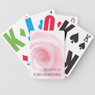 Ephesians Chapter 5 And walk in love Bicycle Playing Cards