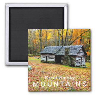 Ephraim Bales Cabin  Great Smoky Mountains Magnet