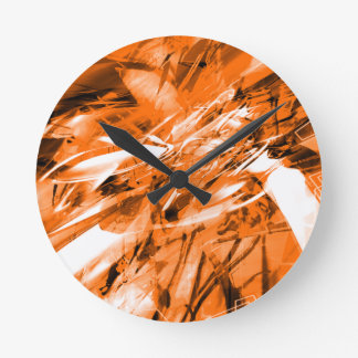 EPIC ABSTRACT d10s3 Round Clock