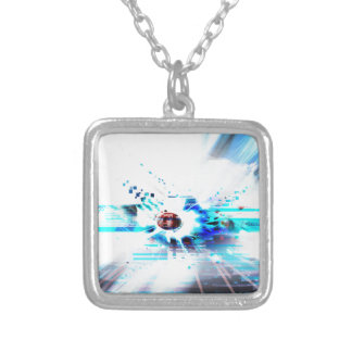 EPIC ABSTRACT d1s3 Silver Plated Necklace