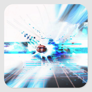 EPIC ABSTRACT d1s3 Square Sticker