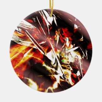 EPIC ABSTRACT d3s3 Ceramic Ornament
