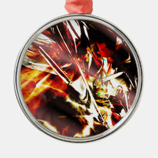 EPIC ABSTRACT d3s3 Metal Ornament