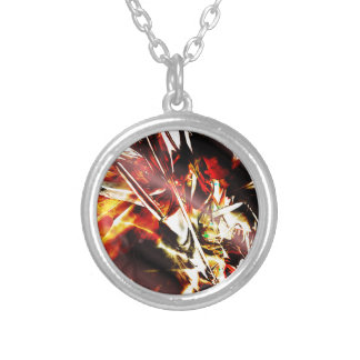 EPIC ABSTRACT d3s3 Silver Plated Necklace