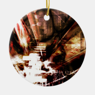 EPIC ABSTRACT d4s3 Ceramic Ornament