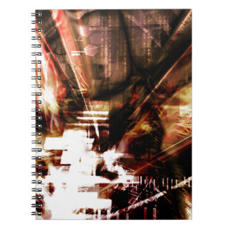 EPIC ABSTRACT d4s3 Spiral Notebook