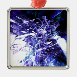 EPIC ABSTRACT d5s3 Metal Ornament