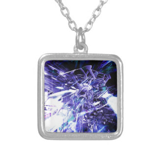 EPIC ABSTRACT d5s3 Silver Plated Necklace