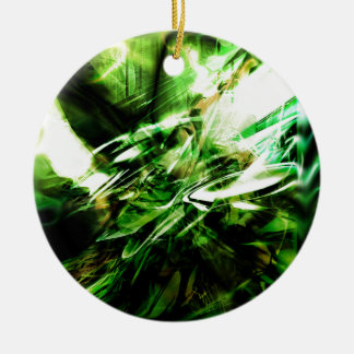 EPIC ABSTRACT d6s3 Ceramic Ornament