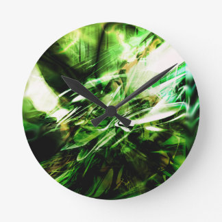 EPIC ABSTRACT d6s3 Round Clock
