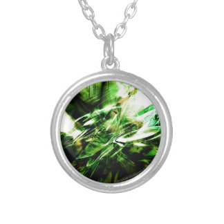 EPIC ABSTRACT d6s3 Silver Plated Necklace