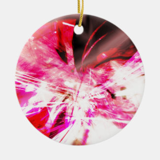 EPIC ABSTRACT d7s3 Ceramic Ornament