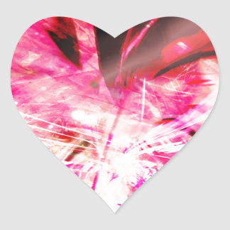 EPIC ABSTRACT d7s3 Heart Sticker