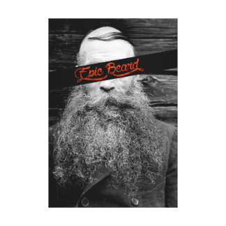 Epic beard canvas print