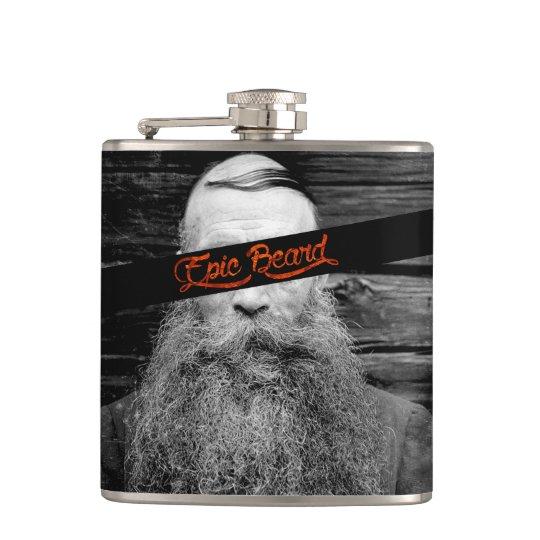 Epic beard hip flask