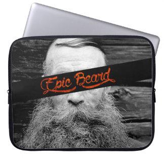 Epic beard laptop sleeve