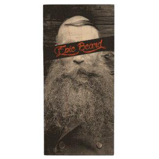 Epic beard wood USB flash drive