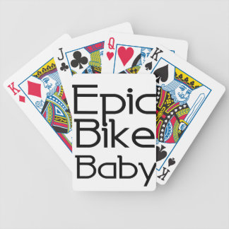 Epic Bike Baby Bicycle Playing Cards