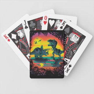 EPIC DINOSAUR BATTLE at Prehistoric Dawn Poker Deck