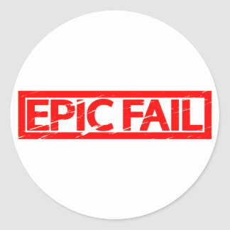 Epic Fail Stamp Classic Round Sticker