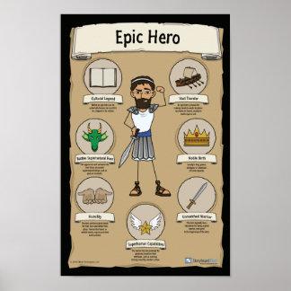 Epic Hero Classroom Posters - BLACK background